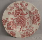 Johnson Brothers ENGLISH CHIPPENDALE Red/Pink Rimmed Soup Bowl 8