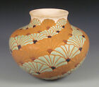 Common Ground Pottery Spiral Fans vase, Eric Olson, art pottery, arts and crafts