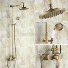 Antique Brass Bath Rain Shower Faucet Set Mixer Valve With Hand Shower frs206
