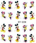 Water Transfer Sticker Nail Art Tips Decals Mickey Mouse & Minnie Disney Cartoon
