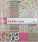 Scrapbook Paper 32 6x6 Sheets Card Stock Lot of 2 Color Crush