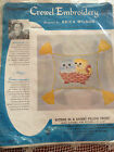 VINTAGE HIAWATHA ERICA WILSON KITTENS IN A BASKET PILLOW CREWEL EMBROIDERY KIT