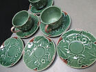 Barneys NY BORDALLO PINHEIRO-Portugal MAJOLICA Cup and Saucer Grape Leaf Mug