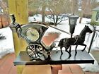 Antique United Sessions Metal 701HANSOM CAB Animated Clock motion Lamp Exc
