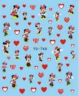 Mickey Mouse & Minnie Disney Cartoon Water Transfer Sticker Nail Art Tips Decals