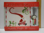 Fitz and Floyd Christmas Snack Cheese Plate Spreader~Mingle, Jingle, Be Merry