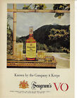 Seagram's Canadian Whisky Vintage 1956 Print Ad