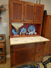 Hoosier Kitchen Cabinet 1920s, Original Finish, Tag, Flour Bin, Ceramic Tiles