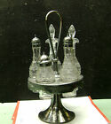 MERIDEN Silverplate Etched Castor Set 1900-1940