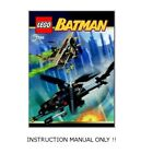 Instructions for LEGO 7786 Batcopter The Chase for the Scarecrow MANUAL ONLY