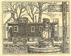 Train Station  Lantern Wood Mounted Rubber Stamp Impression Obsession H1869 NEW