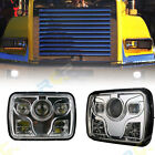 4x6 H4 Square LED Headlights For Chrome Lamps low Beam Clear Projector Lens