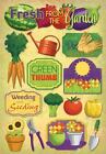 KAREN FOSTER DESIGN WEEDING  SEEDING GARDEN FOOD CARDSTOCK SCRAPBOOK STICKERS
