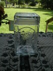 Vintage Clear Square Glass Apothecary Jar Candy Dish With Lid
