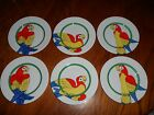 6 PARROT-IN-RING FITZ AND FLOYD, INC. FF64 SALAD/DESSERT PLATES