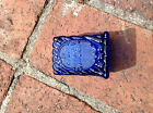 Grand Opening 1971 St. Clair Elwood Indiana Toothpick Holder Blu Coobalt Glass