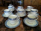 Lot of 8 Cup & Saucer Set, GREAT Condition! Randolph by Noritake, 2 Storage Bags