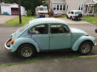 Volkswagen  Beetle Classic Base 1973 vw beetle 1500 marina blue for parts or restoration