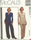 McCALL'S 6815 SEWING PATTERN size 8~~ Pants & Top/Jacket ~~ OOP 1993