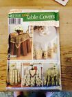Simplicity 5467 home decorating pattern Easy table covers toppers runners 13 pcs