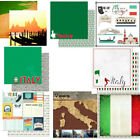 CUSTOM SCRAPBOOK PAPER SET VENICE ITALY TRAVEL VACATION 12 x 12 PAPERS KIT