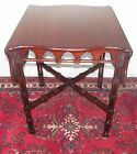 EXCEPTIONAL EARLY 19TH CENTURY CHINESE CHIPPENDALE MAHOGANY PEMBROKE TABLE