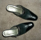 WOMENS WESTERN STYLE BLACK LEATHER MULE SZ 7 1/2 UNISA NONSKID SOLES
