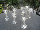 8 VTG CRYSTAL WINE GLASSES W/ FROSTED NUDE FIGURAL STEMS MADE IN FRANCE BY BAYEL