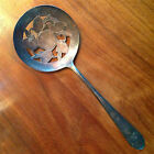 Antique Original Rogers International Silver Spoon Round Slotted