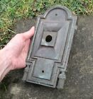 5x ***MUSEUM and ART GALLERY***  reclaimed door handle / knob back plates 19th C