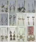 SU 2 Wholesale lot 12 pairs Fashion Dangle Silver Plated Earrings US SELLER