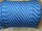3 8 X 100 Halyard sail lineanchor rope polyester double braid 4800 USA Blue