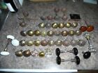 49 Anique c.1920's brass, porcelain and crystal door knobs all great usable cond