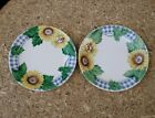Set of 2 Corelle Corning Sunsations Sunflower Bread Salad Plates