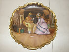 LIMOGES PORTRAIT SCENIC PLATE CHARGER NEGRO FORTUNE TELLER DUBOIS HAND PAINTED