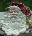 FITZ AND FLOYD ~ JOLLY OLE ST NICK SANTA FIGURINE CANAPE PLATE ~ SERVING PLATTER