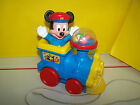Mickey Mouse Pull Toy Train Walt Disney Vintage Goofie Minnie Donald Duck Pluto