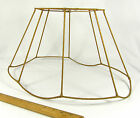 Lamp Shade Frame Fancy Oval Vintage for Floor Lamp Large Gold Binding