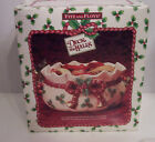 Fitz and Floyd Deck the Halls Christmas  Potpourri Bowl IOB with potpourri