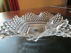 Vintage Indiana Glass Diamond Point, Ruffle Edge Candy Dish - Circa 60's-70's