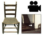 Antique Early 1800's Ladder Back Side Chair Furniture Primitive Shaker