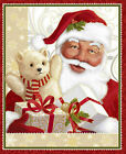 Christmas Traditional Santa Claus Cotton Fabric QT Jolly Old St Nick WALL PANEL