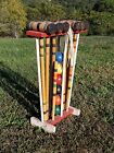Vintage Beautiful Croquet Lawn Yard Game 6 Player Set Used in Great Condition