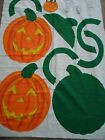 Quilted Jack O' Lantern Bag Fabric Cut-Out Panel