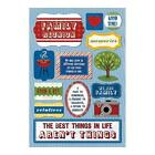 KAREN FOSTER DESIGN WE ARE FAMILY REUNION MEMORIES CARDSTOCK SCRAPBOOK STICKERS