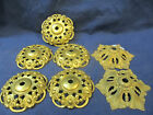Lot of 7 Fancy Antique Cast Brass Bobeches Lamp Light Chandelier Sconce Spacers