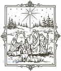 Christmas Shepherds Star Wood Mounted Rubber Stamp Northwoods P1912 Stamp New