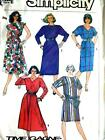 NEW FAB VTG EASY CAREER & CASUAL DRESSES 2 STYLES Misses Sewing Pattern 7551 6 8