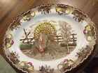 VINTAGE IRONSTONE KING TOM AMERICAN TRADITION TURKEY PLATTER  LARGE OVAL