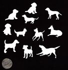 Dog Die Cuts Set of 22 Mini Dog Die Cuts 1 to 2 sizes You Choose Color